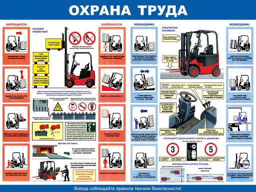 безопасность работ на электропогрузчик плакат