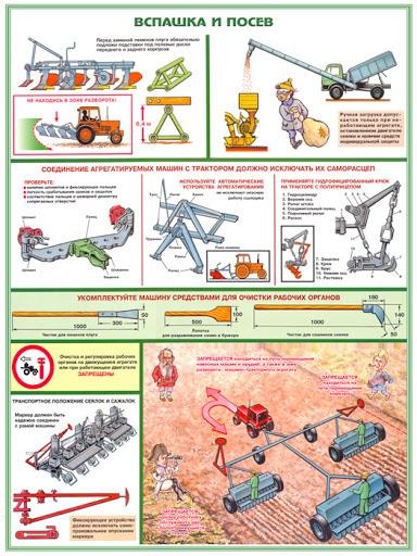 безопасность труда в сельском хозяйстве купить плакаты